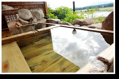 まじま荘露天風呂